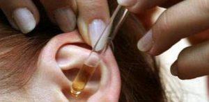 Введение лекарственных веществ в слуховой проход